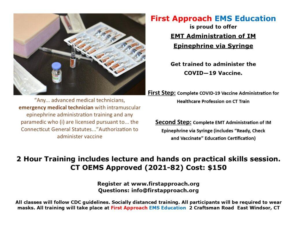Connecticut Vaccine Training Classes